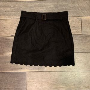 NWT UO Scalloped Belted Skirt